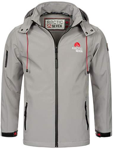 Arctic Seven Herren Designer Softshell Funktions Outdoor Regen Jacke Sport AS087 [AS-087-H