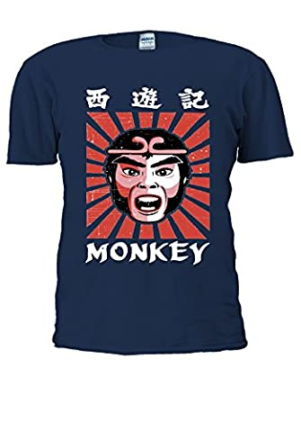 Monkey Magic Retro Graphic 70s 80s kung fu Martial Arts Men Women Unisex Top T Shirt-S