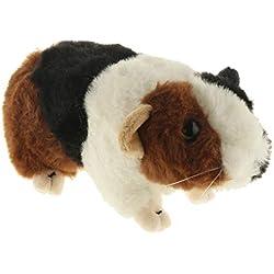 Homyl Cochon d'Inde Animaux en Peluche - Doudou Garçon / Fille Enfant Lit Berceau Poussette Jouets Sommeil - Brun + Blanc + Noir