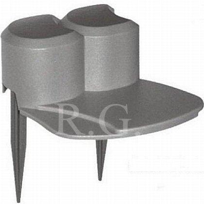 Palisade Beetumrandung Rasenkante Beeteinfassung 3,1m Farbe grau