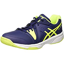 Asics Gel-Gamepoint, Zapatillas de Tenis para Hombre, Azul (Indigo Blue/Safety Yellow/White), 43.5 EU