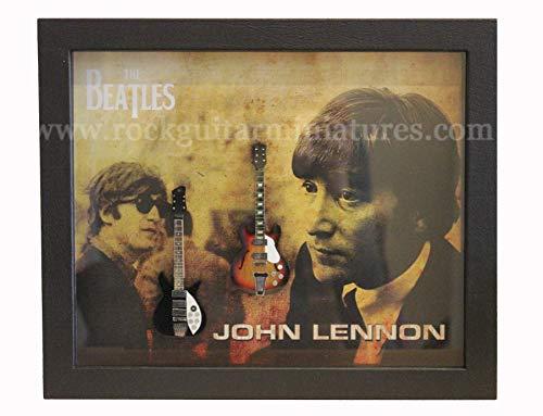 Unbekannt RGM8985 John Lennon Beatles Miniature Guitar Collection in Shadowbox Frame