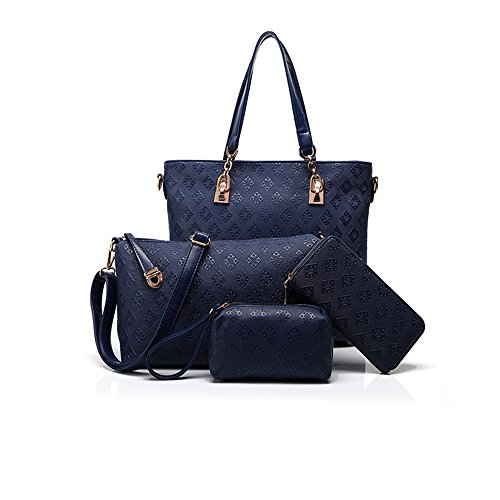 Anne, Borsa a spalla donna nero Rose red Blue