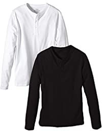 Wrangler Men's Pack of 2 Dean G-Da Long Sleeve Henley T-Shirt