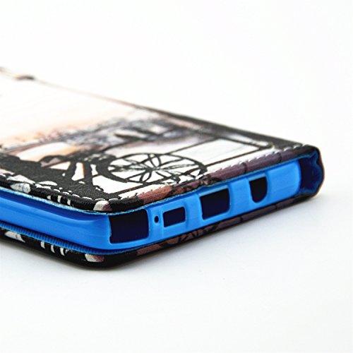 Nancen Apple iPhone 6 / 6S (4,7 Zoll) Hülle, PU Ledertasche Flip Cover Handyhülle Feuerwerk Muster Design Protection Etui Brieftasche Case Handy Schutzhülle Holster Telefon-Kasten mit Standfunktion Landschaft