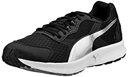 Puma Mens Descendant v3 Black and Puma Silver Mesh Running Shoes - 9 UK/India (43 EU)