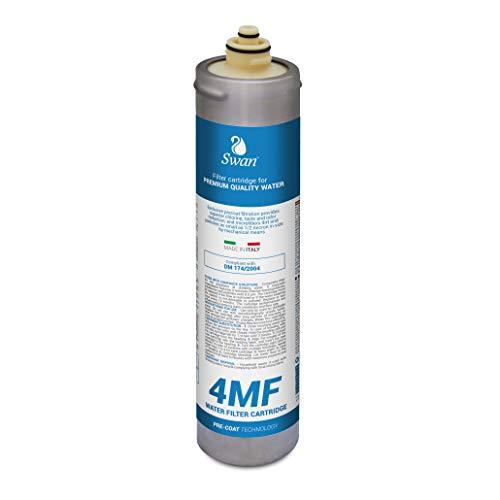 Swan 4MF Wasserfilter zur Trinkwasserfiltration kompatibel mit Everpure 4C. Aktivkohlepulver auf Membran mit Porengröße <0,5 Mikron. 11.000 Liter - Wirksam gegen Partikel und Chlorverbindungen -