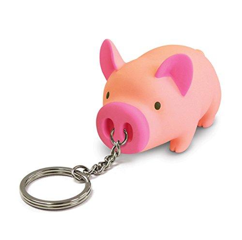 AnaZoz Schmuck Schlüsselanhänger Haustier Fahrzeugschlüssel Schwein Taschenanhänger Geschenk für Herren Damen Hell Rosa
