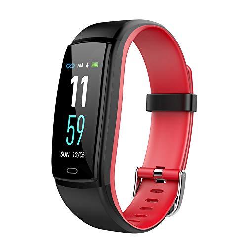 gaddrt Schrittzähler Smarte Uhren, Wasserdichtes OTA Smart Watch Armband Fitness Tracker für iPhone für Android/iOS w (Rot)