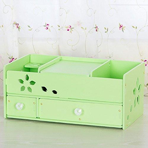 étui cosmétique Bureau de maquillage Boîte de rangement Type de tiroir Cabinet de rangement cosmétique Boîte d'emballage en plastique multicouches Creative ( Couleur : Vert )