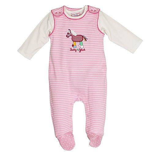 SALT AND PEPPER Baby-Mädchen Strampler BG Playsuit Stripe Pony, Rosa (Rose 817), 62