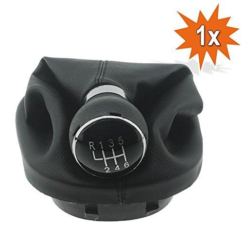 Levier Soufflet Pommeau de levier de vitesse + Cadre 6bb12 Coutures Noires avec diamètre 12 mm pièce de rechange pour VAG partie numéro 2 K0711113 ou 1t0711113