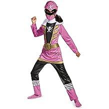 Disguise Saban Super Megaforce Power Rangers Ranger Classic color rosa niñas disfraz