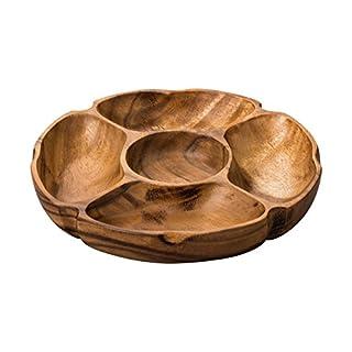 Premier Housewares 5 Compartment Socorro Serving Dish Acacia Wood