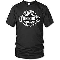 shirtloge - FREIBURG - Meine Heimat, mein Verein - Fan T-Shirt - verschiedene Farben - Größe S - 3XL