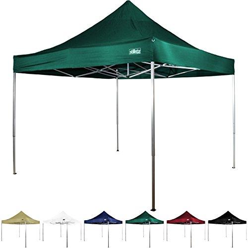 Maxstore Falt-Pavillon 3x3m, mit bis zu 4 Seitenteilen, Wasserdicht, versiegelte Nähte, EV1 Voll-Aluminium, Tragetasche, Champagner Weiß Blau Grün Rot Schwarz