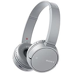 Sony WH-CH500 Casque Sans Fil Bluetooth Compact avec Prise d'appels en direct - Gris