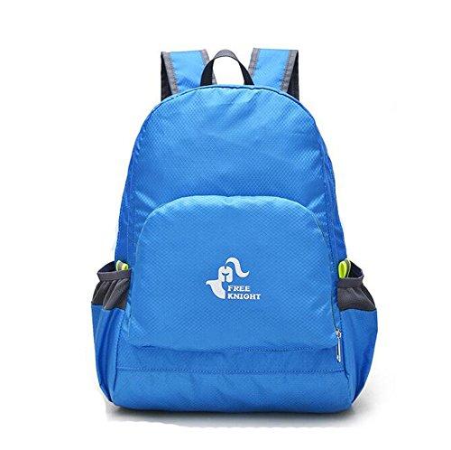 Wmshpeds Gli uomini e le donne possono piegare la piegatura borsa a tracolla ultra-light arrampicata in montagna borsa portatile borsa in pelle impermeabile A
