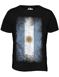 Argentina de la Bandera de Faded - para Hombre T-Camiseta de Manga Corta en