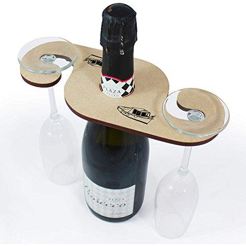 Azeeda 'Überdachtes Boot' Weinglashalter / Flaschenhalter (GH00036107)