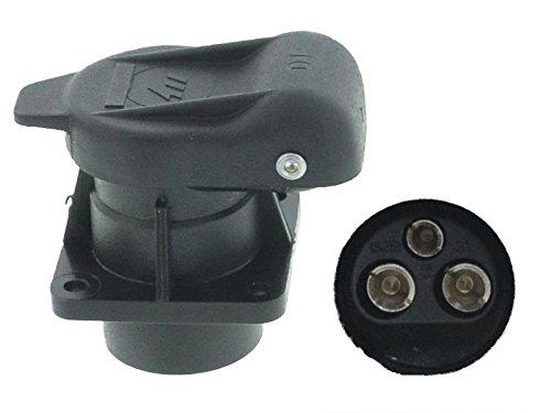 Preisvergleich Produktbild 3-polige Anhänger Steckdose DIN 9680 Kunststoff 12V 4-Anschraubpunkte