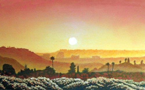 Northwest Art Mall Mission Valley Sunset Artwork von David Linton, 27,9cm von 43cm
