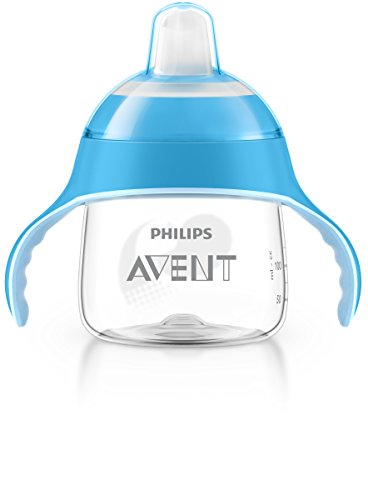 Philips AVENT SCF751/05 - Bicchiere con beccuccio, per bambini dai 6 mesi in su, 200 ml, colore: blu [Importato da Unione Europea]