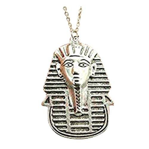 Plata tono 50* 35mm Egipto godness colgante collar