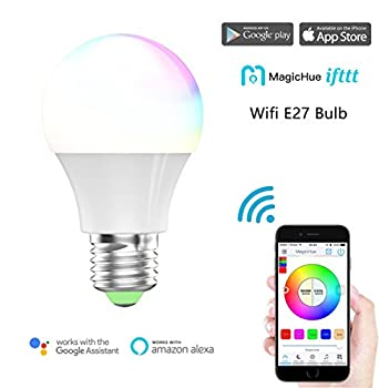 Magic Hue Led Mini Wifi Rgbw Gegenwert 40w Lampe, Dimmbar Energiesparlampen Mit Amazon Echo Alexa, Google Home, Ifttt, Sunrise 16 Mio Farben Leuchtmittel Sonnenaufgang E27 Für Android Und Ios 12