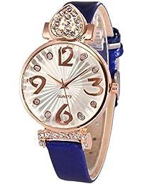 Relojes para Mujer Reloj de Pulsera con Aleación de Diamantes de Imitación  y Correa de Cuero 0af3dc633704