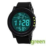 Altsommer Digital Militärarmee Sport Uhr Outdoor Wasserdichte Armbanduhr mit Chronograph und Countdown Uhr,LCD Digital Stoppuhr Datum Silikon für HerrenArmbanduhren,24cm Bandlänge (Weiß)