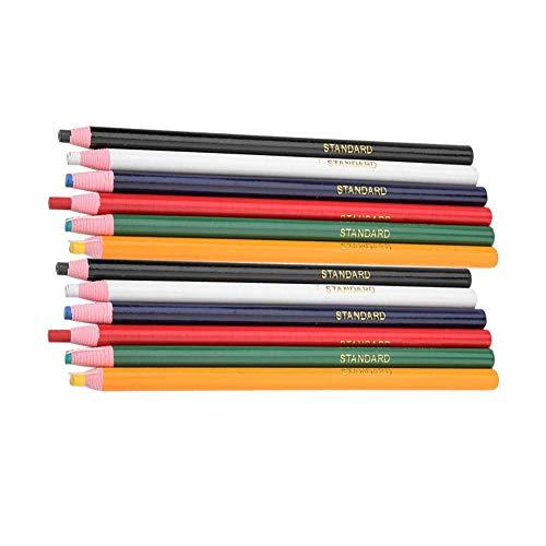 Jacksking Nähen Bleistift, 12 Teile/Paket Stoff mischfarben löschbaren Stift Schneider schneiderin Handwerk kennzeichnung nähzubehör