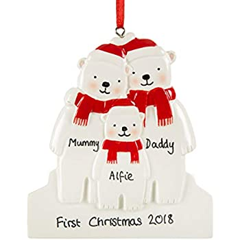 Personalised Christmas Decoration Family S First Decoration My 1st
