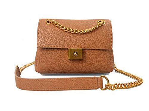 Retro zaino obliquo, zaino obliquo della catena, borse, borsa quadrata casuale, mini borsa a tracolla ( Colore : Nero ) Khaki