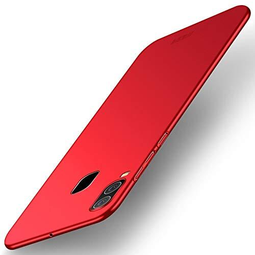 Für Samsung Handy Für Galaxy A30 Scrub PC Ultraflaches, stoßfestes und kratzfestes Full Cover Shell (Farbe : Rot) -
