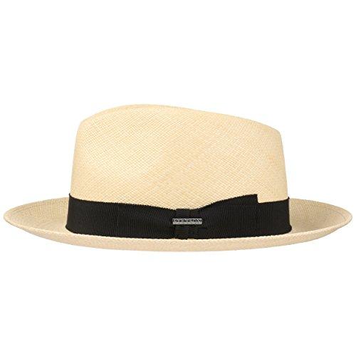 Stetson Chapeau Panama Solano Fedora Homme - Made in Italy de Soleil d'été Plage avec Ruban Gros Grain, Grain Printemps-ete