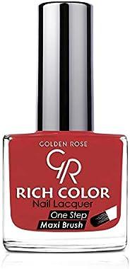 طلاء اظافر من جولدن روز , اللون الاحمر رقم 84