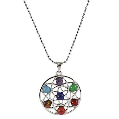 7 De Cuarzo De La Piedra Preciosa De La Rueda De La Vida Amuleto Equil
