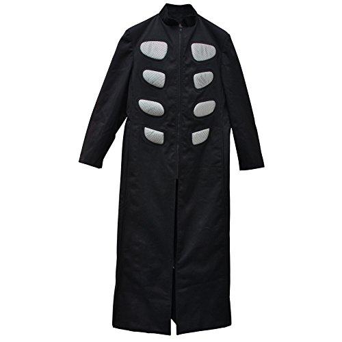 Zoelibat-Uomo Colletto Cappotto con inserti-inserti-nero/argento nero Medium