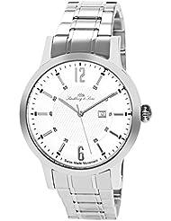 Lindberg & Sons LSSM305 - Reloj para hombre de cuarzo con correa de acero inoxidable color plata