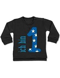 Shirtracer Geburtstag Baby - Ich Bin 1 Blau Junge Erster - Baby Pullover