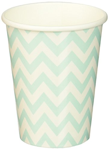 ginger-ray-party-becher-pappbecher-chevron-muster-blau-weiss