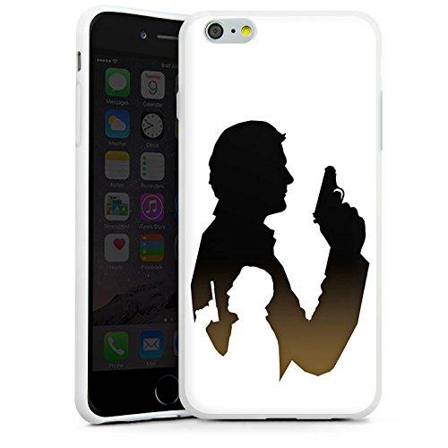 Apple iPhone X Silikon Hülle Case Schutzhülle James Bond Film Silikon Case weiß