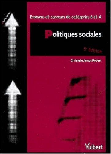 Politiques sociales : Examens et concours de catégories B et A