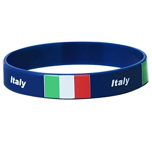 Trixes Italien Silikon World Cup Armband für Sportveranstaltungen Olympiade und Nationale Events