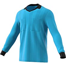 adidas Men Referee 18 Long Sleeve Jersey - Bright Cyan, Large
