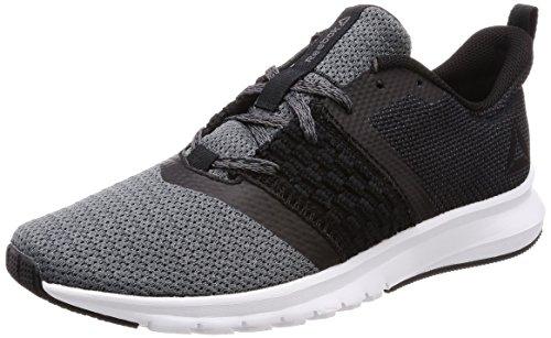 Reebok Print Lite Rush, Chaussures de Running Homme Noir (Blackash Greywhite)