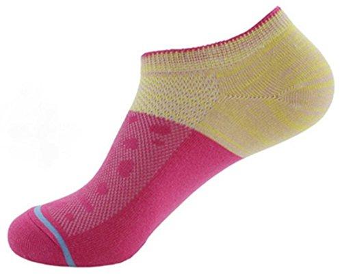 langxi calcetines de corte bajo Invisible Zapatillas Deportivas para mujer  multicolor algodón 31faa39f9f037