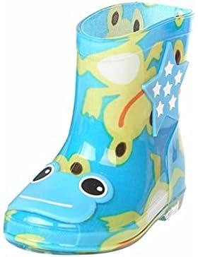 OYSOHE Kinder Regen Schuhe, Kind Wasserdicht Tier Schnalle Gummi Infant Baby Regen Stiefel