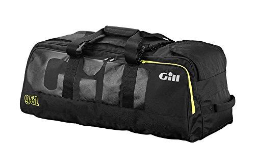 Gill 95L Rolling Cargo Bag Dunkelgrau Rot Detail - Wasserdicht Spritzwassergeschützt - Wasserdichte Cargo